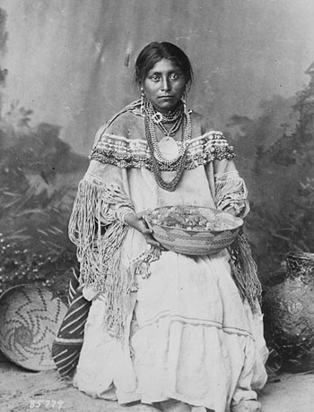 Apache Bride in Wedding Dress