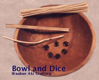 Bowl and Dice Native Toys