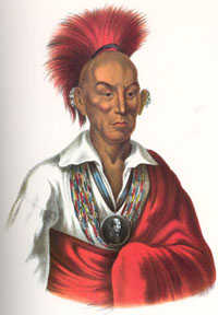 Chief Black Hawk of the Sauk Indians