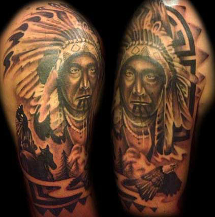 native american tribal tattoos and their meanings. Black Bedroom Furniture Sets. Home Design Ideas