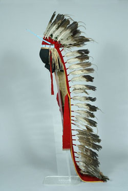 Native American Headdress with Feathers