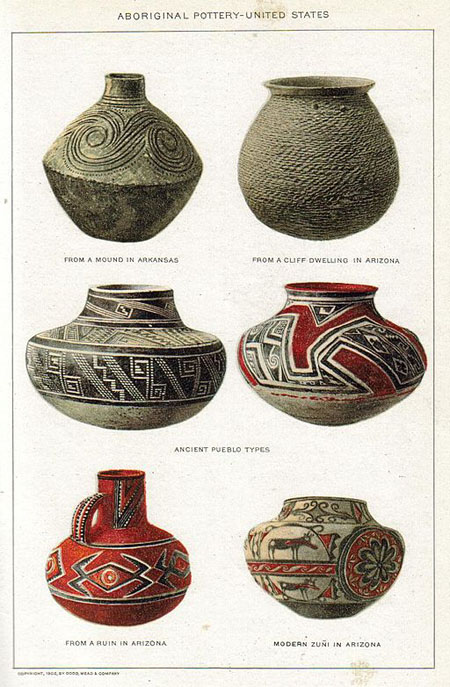 Native American Pottery Used For Storage And Transportation