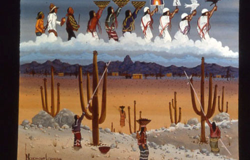 Native American Rain Dance Painting