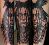 Native American Crow Tattoo