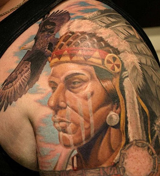 Navajo tattoo designs Choctaw Indians Native Tattoo Eagle Native Net Native American Tattoos And Their Tribal Meanings