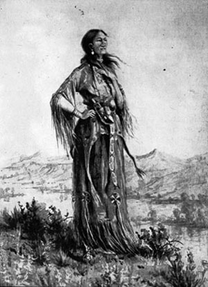 an overview of the life of sacagawea a shoshone indian Who was sacagawea by judith bloom fradin is a very informative book i did not realize that she was only 10 or 11 when she was traded to a frontiersman to be one of his indian.