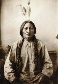 Chief Sitting Bull of the Sioux Indians